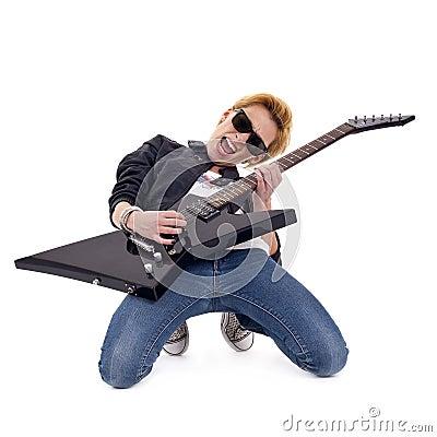 Passionate rock girl