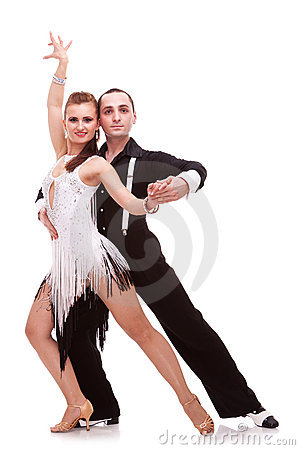 Free Passionate Salsa Dancers Royalty Free Stock Image - 23362396