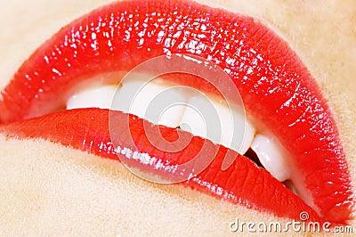 Passionate woman lips