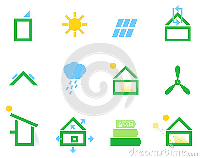 Passive house icons