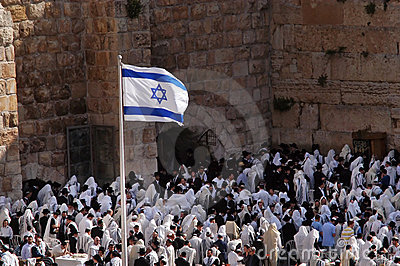 Passover Jewish Holiday at the Western Wall Editorial Photo