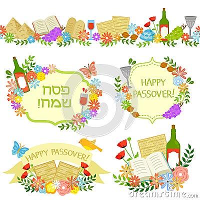 Passover labels Vector Illustration