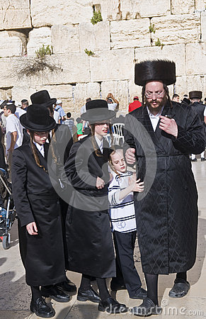 Passover in the Western wall Editorial Stock Image