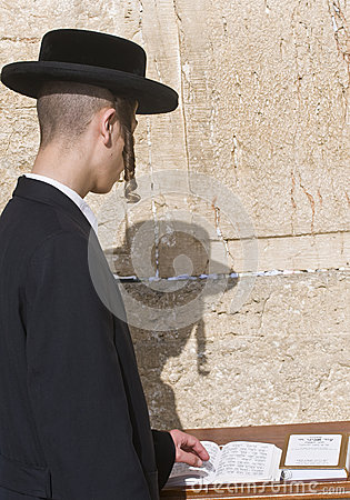 Passover in the Western wall Editorial Photography