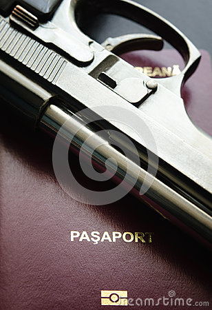 Passport and gun