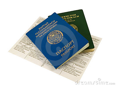 Passport of Kyrgyzstan and Uzbekistan