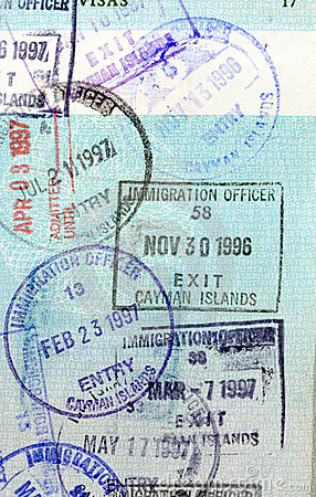 Passport Stamps - Cayman Islands
