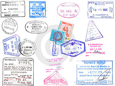 Passport stamps and visa s