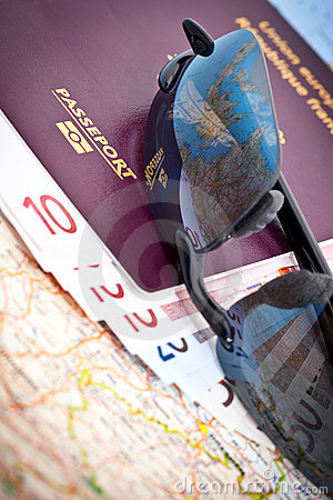 Passport Sunglasses Euros Map