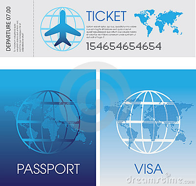 Passport, tickets and visa