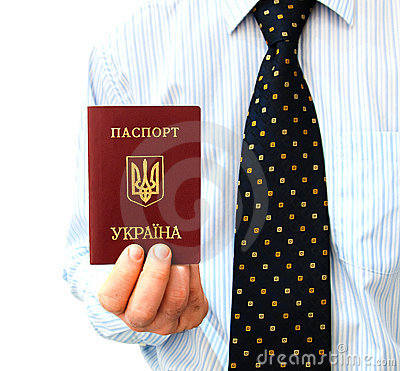The passport for travel abroad  in a man s hand
