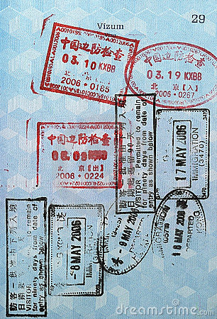 Passport Visa Stamps (Asia)