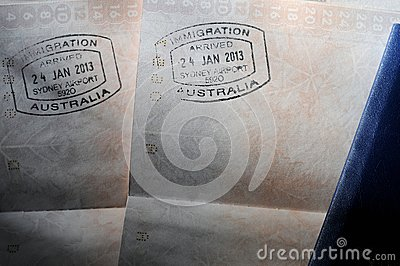Passport Visa Stamps - Australia