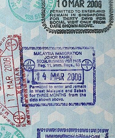 Passport Visa Stamps-Malaysia