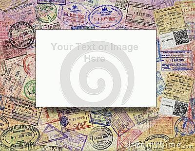 Passport Visas - Background - Add Text