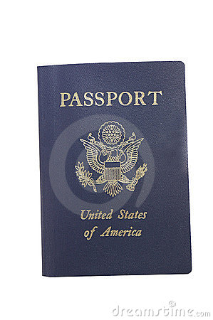Passport on white