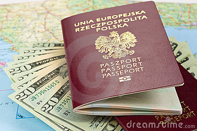 Passports ready for trip