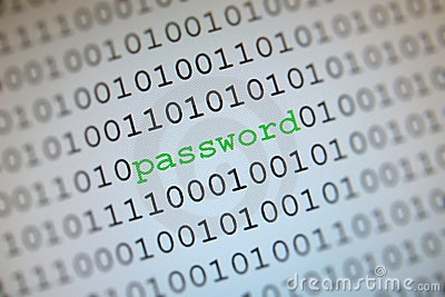 Password in binary code