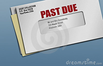 Past due credit bills