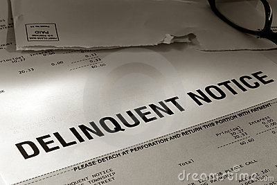 Past Due Notice of Delinquent Account Late Payment