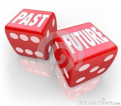 Past Vs Future Dice Today Tomrrow Comparison Betting Gamble