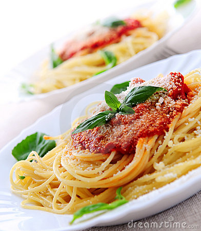 Free Pasta And Tomato Sauce Stock Image - 4302721