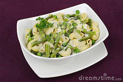 Pasta with Beans and Peas