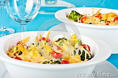 Pasta and broccoli bake