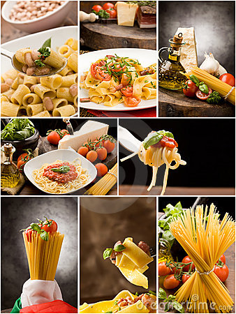 Free Pasta Collage Royalty Free Stock Photography - 19023337