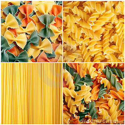 Free Pasta Collage Stock Images - 22335574