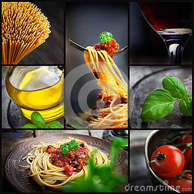 Free Pasta Collage Stock Photo - 29388230