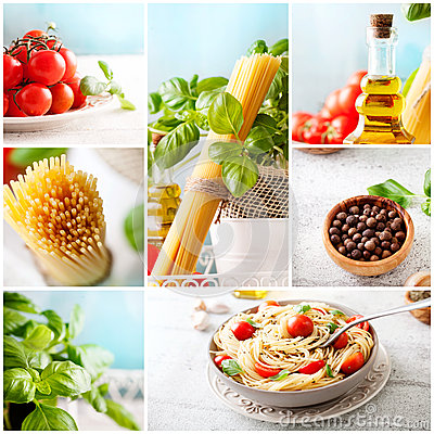 Free Pasta Collage Royalty Free Stock Images - 51483099