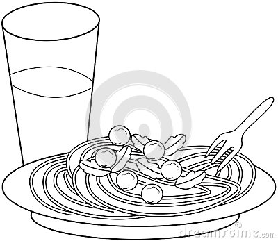 macaroni and cheese coloring page disabilities