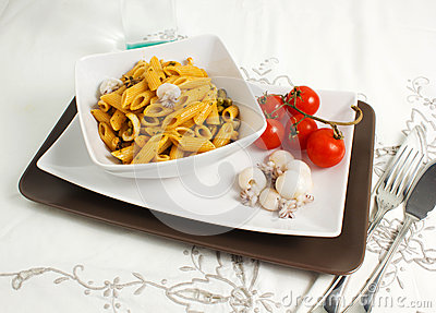Pasta with cuttlefih