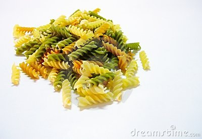 Pasta - Dried tri-colored fusilli