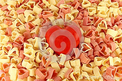 Pasta and a heart