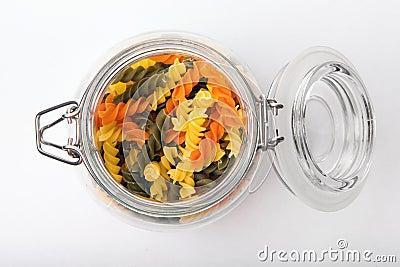 Pasta in a jar