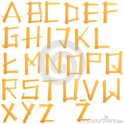 Pasta letter font
