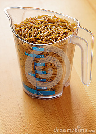 Pasta in Measuring Cup
