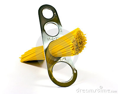 Pasta in measuring device