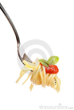 Free Pasta On A Fork Stock Images - 12368154