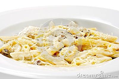 Pasta Pene with Mushrooms