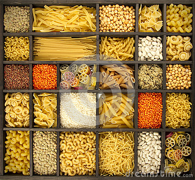 Free Pasta Rice And Pulses Royalty Free Stock Photo - 27718655
