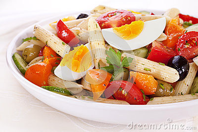 Pasta Salad with Egg