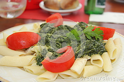 Pasta with Spinach - 1