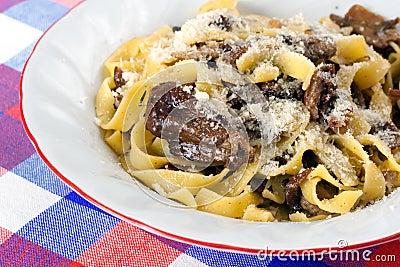 Pasta Tagliatelle with Porcini Mushrooms