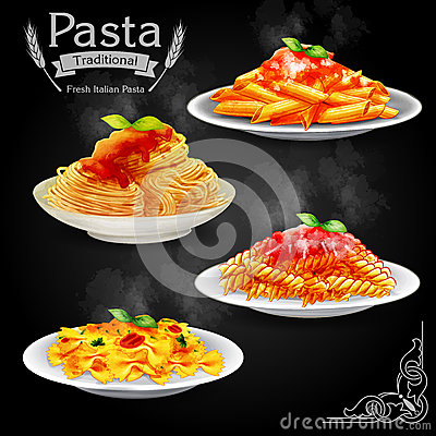 Free Pasta Vintage Stock Photography - 54934412