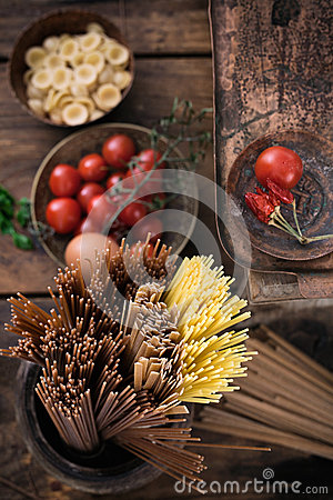 Free Pasta With Ingredients Royalty Free Stock Photo - 48799475