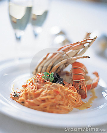 Free Pasta With Lobster Royalty Free Stock Images - 104959