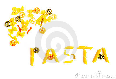 Pasta word shapes
